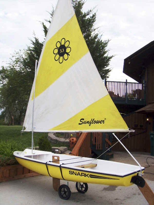 KC-11 Cart used with a Snark Sunflower Sailboat