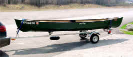 Canoe on SUT-200-S Trailer