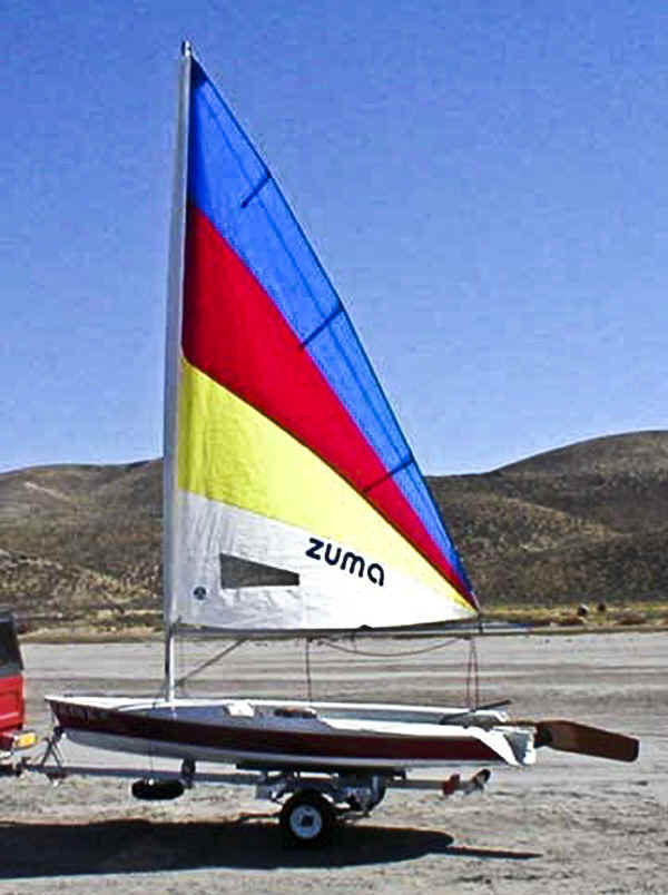 Trailex SUT-250-S Trailer with Zuma Sailboat